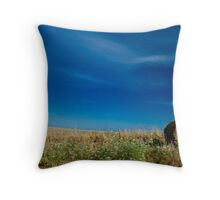 Haystack, harvest Throw Pillow