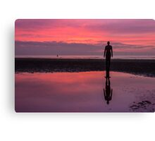 Pink skies at Crosby Beach Canvas Print