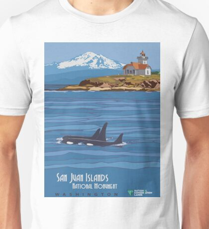 Vintage Travel Poster - San Juan Islands National Monument (2014) Unisex T-Shirt