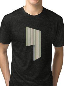 Glitch Homes Wallpaper green stripes left divide Tri-blend T-Shirt