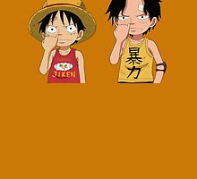 One Piece - Ace and Luffy by Oppaiman