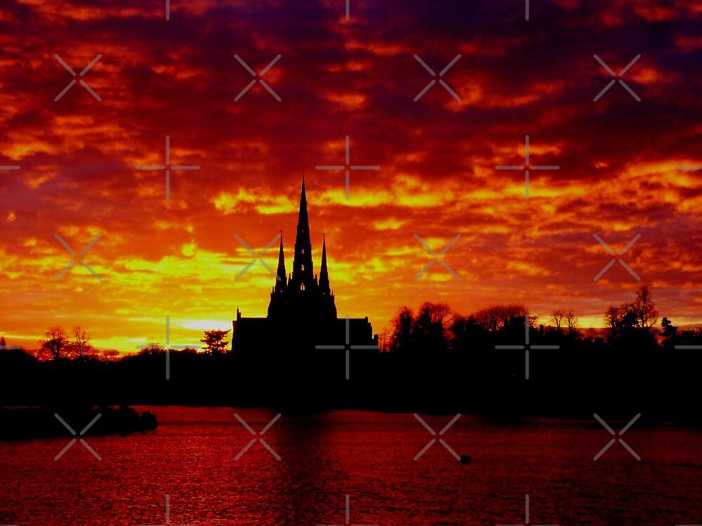 Lichfield Sunset by mervynw