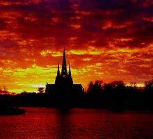 Lichfield Sunset by mervynw