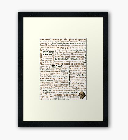 Shakespeare's Insults Collection - Revised Edition (by incognita) Framed Print