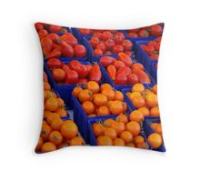 """Market"" Throw Pillow"