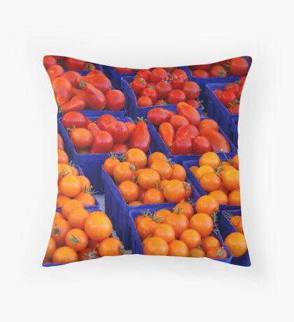"""Market"" Throw Pillow"