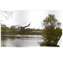 Bushfire Helicopter at Glenbrook Lagoon Poster