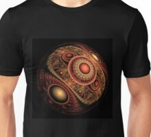 Abstract fractal sphere Unisex T-Shirt