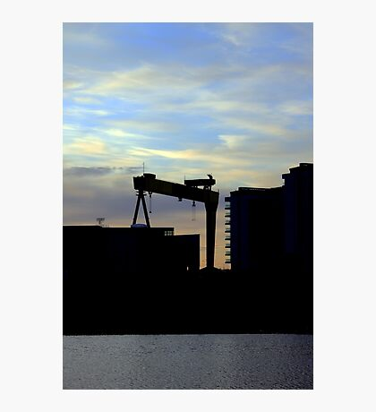 Harland & Wolff Silhouette Photographic Print