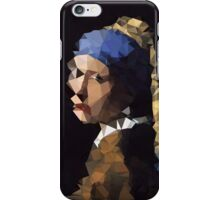 Low-Poly Girl with The Pearl Earring iPhone Case/Skin