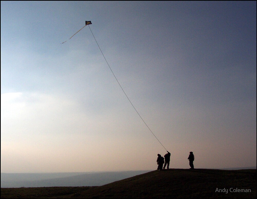 Kite Flying on Windover Hill by Andy Coleman