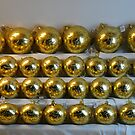 Golden Christmas ornaments by Arie Koene