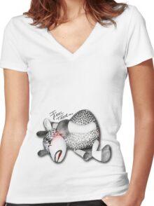 I Feel Tired..... Women's Fitted V-Neck T-Shirt