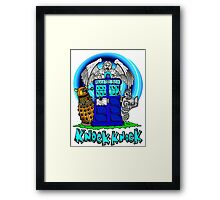 Doctor Who Knock Knock on the Tardis Framed Print