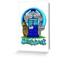Doctor Who Knock Knock on the Tardis Greeting Card