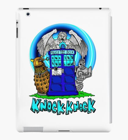 Doctor Who Knock Knock on the Tardis iPad Case/Skin