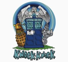 Doctor Who Knock Knock on the Tardis Kids Tee