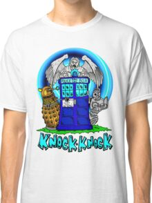 Doctor Who Knock Knock on the Tardis Classic T-Shirt