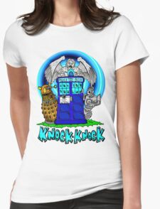 Doctor Who Knock Knock on the Tardis Womens Fitted T-Shirt