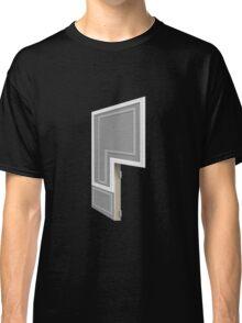 Glitch Homes Wallpaper grey molding right divide Classic T-Shirt