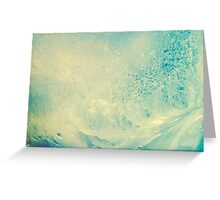 Frosted glass 11 Greeting Card