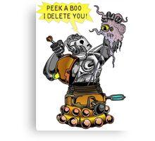 Cyber vs Dalek Canvas Print