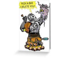 Cyber vs Dalek Greeting Card