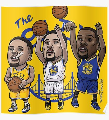 Warriors the big 3  Poster