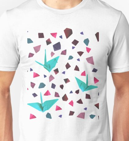 Origami carnival - pink Unisex T-Shirt