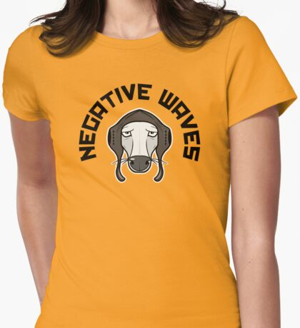 Negative Waves (Light colours) Womens Fitted T-Shirt