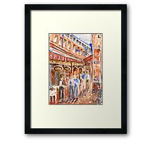 Restaurant Alley Framed Print