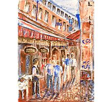 Restaurant Alley Photographic Print