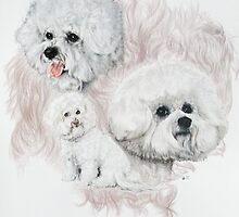 Bichon Frise /Ghost by BarbBarcikKeith