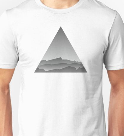 Pyramid Mountains : Triangle Geometric Unisex T-Shirt