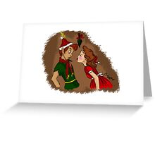 Peter and Wendy Greeting Card
