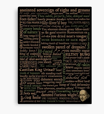 Shakespeare Insults Dark - Revised Edition (by incognita) Canvas Print