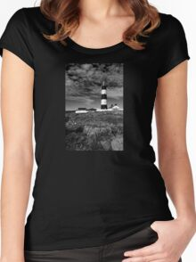St John's Point, Lighthouse Mono Women's Fitted Scoop T-Shirt