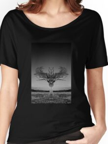 The Rihanna Tree Symmetry Women's Relaxed Fit T-Shirt