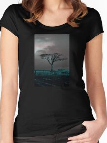 The Rihanna Tree, Angry Women's Fitted Scoop T-Shirt
