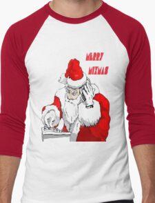 Merry Mixmas Men's Baseball ¾ T-Shirt