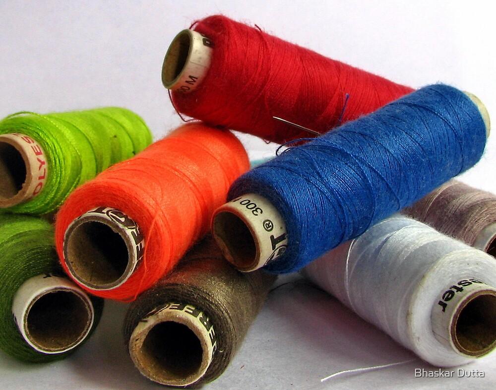 coloured spindles by Bhaskar Dutta