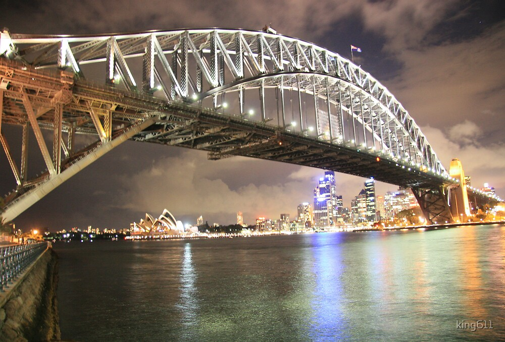Harbour Bridge After Dark by king611