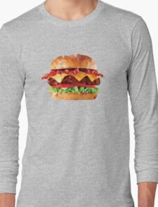 Geometric Bacon Cheeseburger Long Sleeve T-Shirt