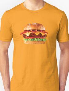Geometric Bacon Cheeseburger Unisex T-Shirt