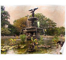 Bethesda Fountain Poster