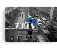 The blue umbrella Canvas Print