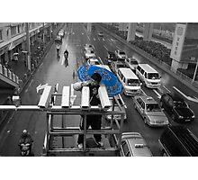 The blue umbrella Photographic Print