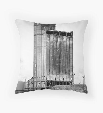 Grain Silo, Belfast Docks Throw Pillow