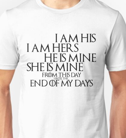 Game of Thrones Quote: Marriage Unisex T-Shirt