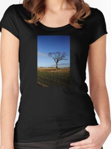 Rihanna Tree And Bales Women's Fitted Scoop T-Shirt
